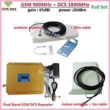 1 SET LCD Booster High Gain Dual Band Mobile Téléphone 2G 4G GSM Signal Booster GSM 900 mhz DCS 1800 mhz Répéteur de Signal Amplificateur