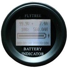 100V100A круглый кулоном кулонометр литий-ионный LiFePO4 батарея реальная емкость ЖК-дисплей Электрический измеритель параметров кулоном счетчик