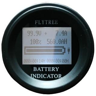 100v100a Rotonda Coulombmeter Coulombometro Agli Ioni Di Litio Lifepo4 Reale Capacità Della Batteria Lcd Elettrico Parametro Misuratore Di Coulomb Contatore