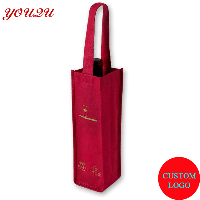 Wine Bag With Non Woven Material Own Logo Printing Can Do One Two Four Six