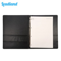 New Arrivals Business Gifts A4 Spiral Loose Leaf Blank Diary Notebook Durable Leather Journal 6 Colors