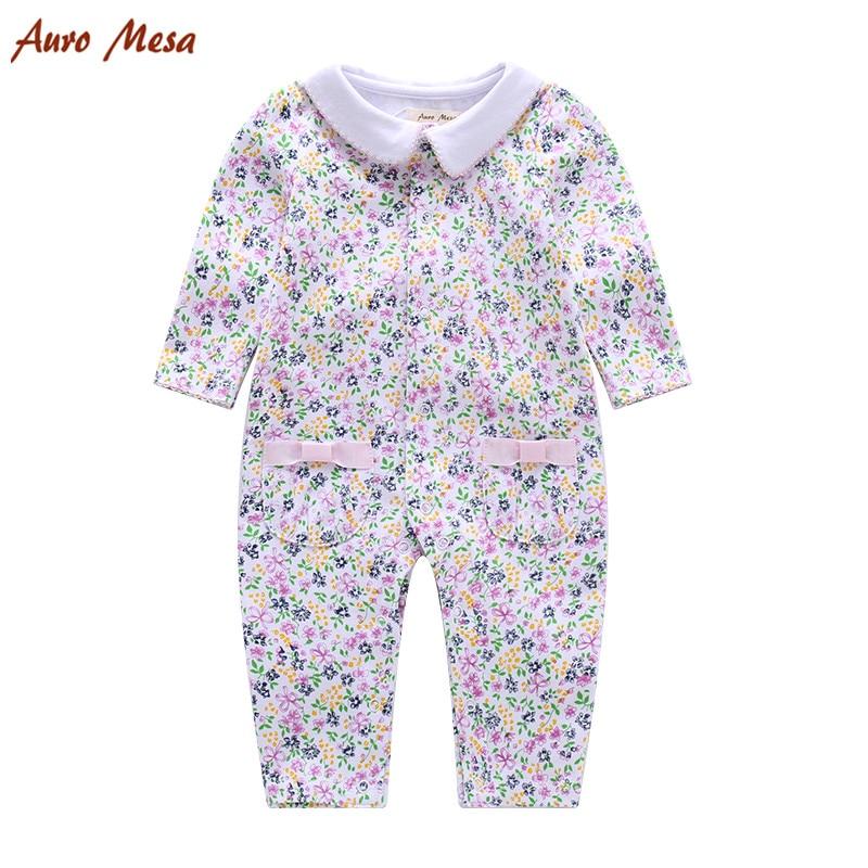 Ny Baby Girl Romper Långärmad Bomull Baby Jumpsuits - Babykläder