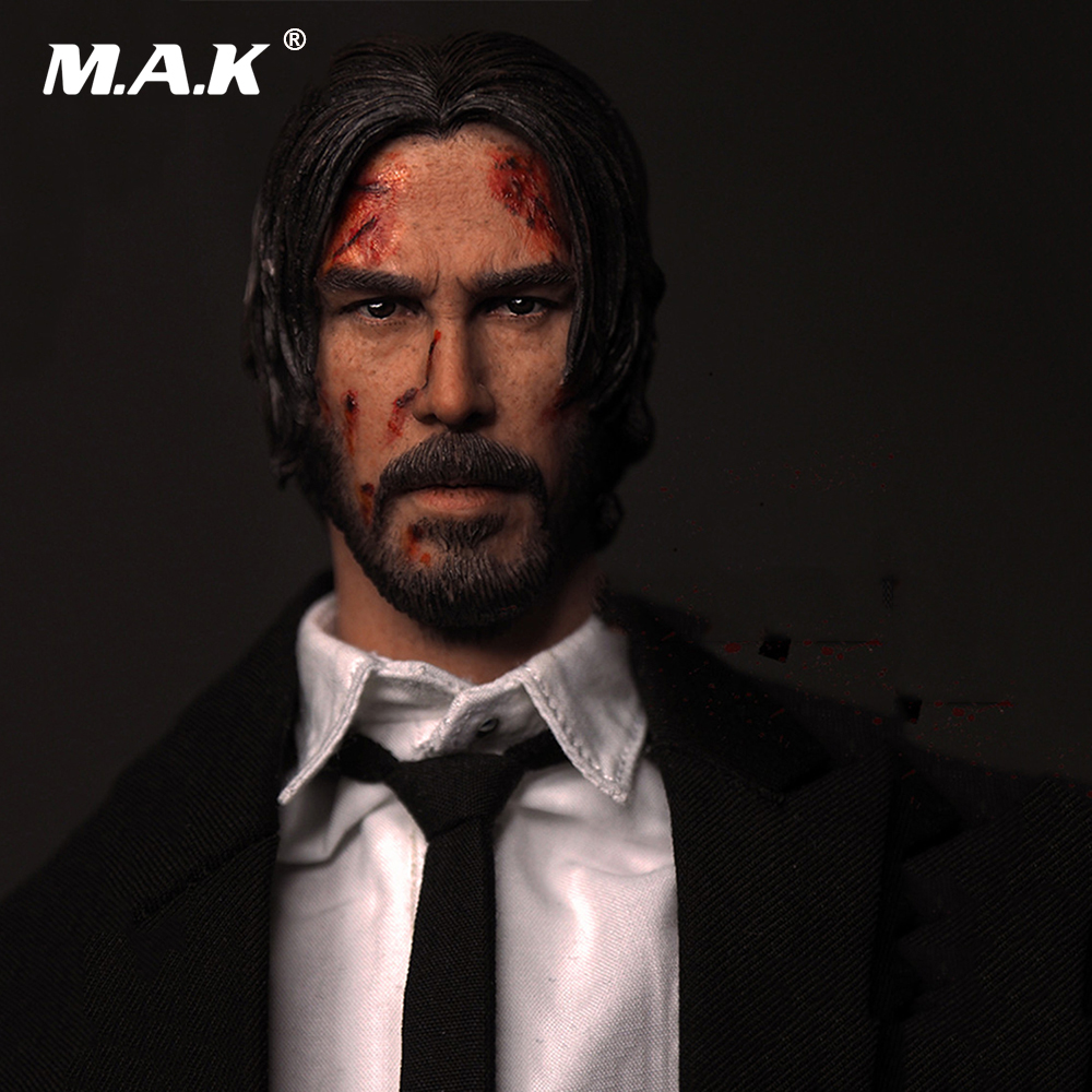 1/6 Scale The Top Killer II Keanu Reeves Head Sculpt for 12 Inches Male Figures Bodies Dolls  Gifts Toys Collections 1 6 scale full set male action figure kmf037 john wick retired killer keanu reeves figure model toys for gift collections