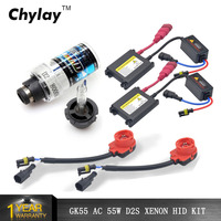 1 kits D2S xenon light hid ballast D2C 4300K 5000k 6000k 8000k 55W D2S lamp Slim Conversion HID Kit Xenon bulb car light