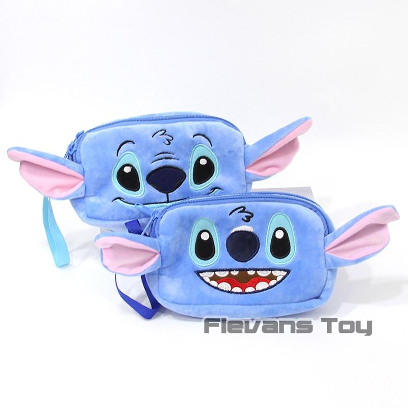 Cartoon Kawaii Lilo Stitch Plush Hand Bags Soft Stuffed Animal Toys Dolls 10pcs lot 2 Types