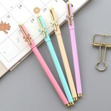 цена Cute metal gel pen girl writing pen 0.5mm black water pen office learning writing pen school stationery онлайн в 2017 году
