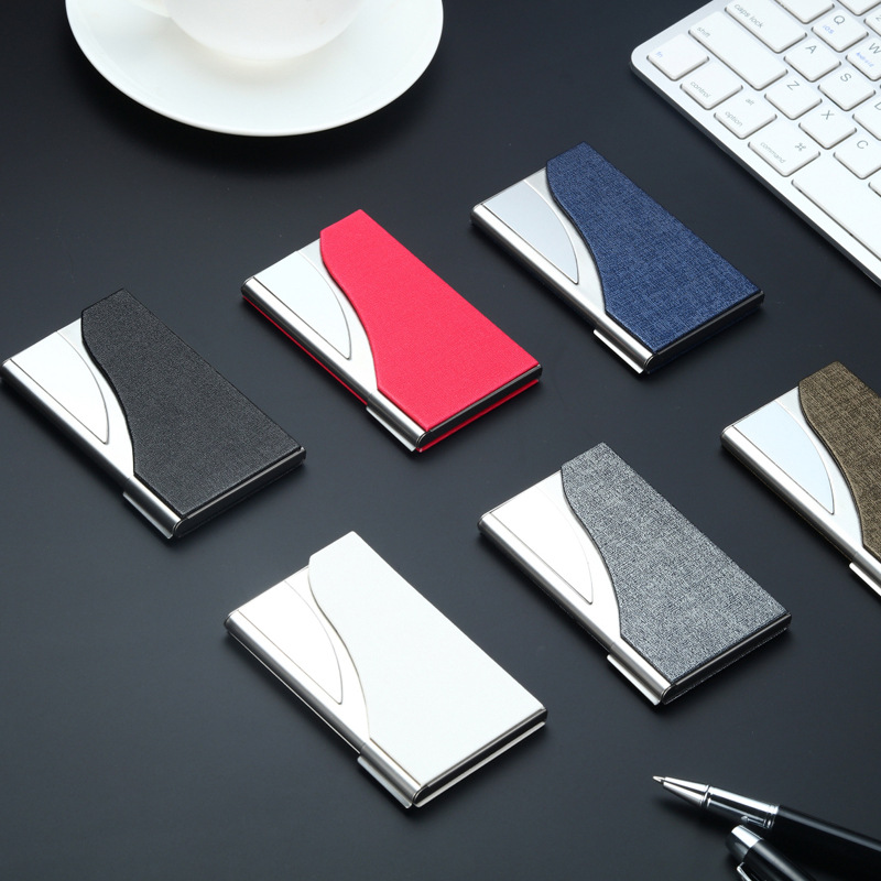 Wholesale Brand Card Id Holders Stainless Steel Mens Business Holder Portable ID Case For Women Credit