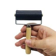 Rodillo de impresión para pintura de tinta de 6cm, herramienta de grabado para niños, herramienta de pintura al óleo, cepillo de goma para repujado