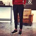 2016 New Men Loose Long Pants Comfortable Sweatpants Joggers Male Cotton Lace-up Pants Trouser M-5XL 9067wg