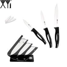 Chinese Best Kitchen Knife Set XYJ Brand New 3″4″5″ Zirconium Oxide Ceramic Knife Set Handmade Cooking Knife+One Knife Holder