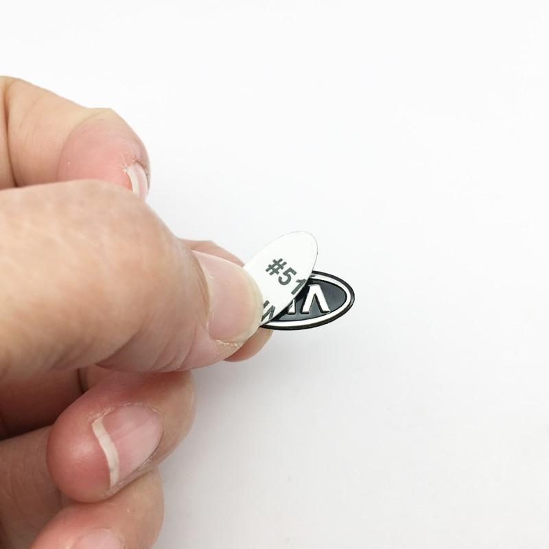5PCS 16.5mm*8.5mm Car Key Emblem Logo Stickers For Kia Ceed Rio Sportage R K3 K4 K5 Ceed Sorento Cerato Optima Car Styling