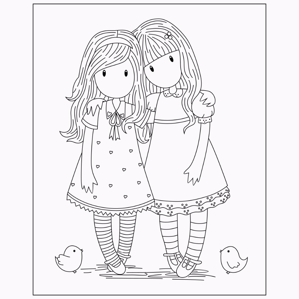 gorjuss amiguis | Gorjuss para colorear, Dibujos bonitos