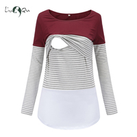 Nursing Top   Maternity   Clothes Breastfeeding Mummy Top Long Sleeve Womens Clothing Plus Size Jersey Top Pregnancy Women Tops