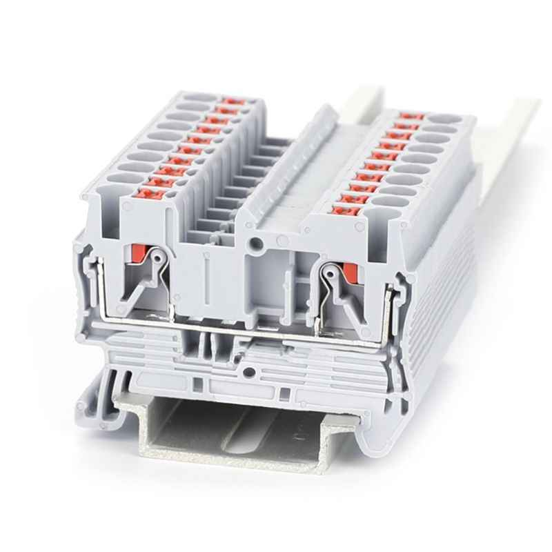 2019 NEW 10 Pcs PT 2.5 Push-In Din Rail Mounted Terminal Blocks Spring Screwless Feed Through Electrical Components And Parts