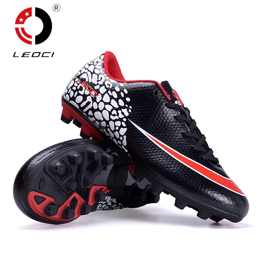 LEOCI Unisex Adult Children Training Boots FG Soccer Shoes Outdoor Lawn Football Shoes Firm Ground Botas De Football Size 33-44 tiebao a13135c adult turf soccer shoes outdoor lawn men women soccer boots racing football shoes eur size 39 44 football boots