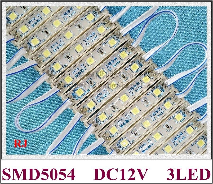 SMD 5054 LED module for sign channel letter LED light module DC12V 3 led 1 2W