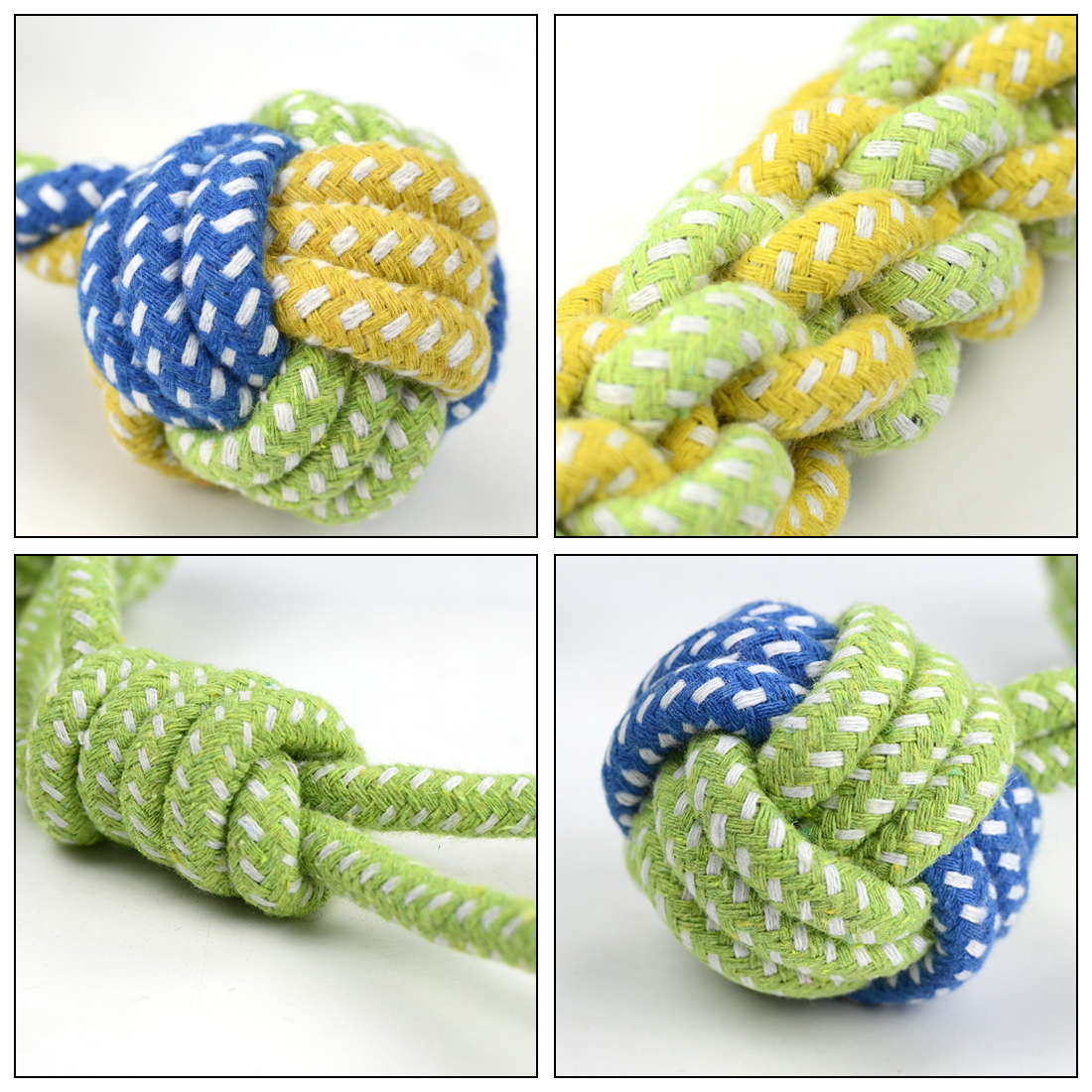 Pet Dog Cotton Rope Toy Dog 7 Pcs Chew Toys Honden Speelgoed Interactive Dogs Toys Tooth Cleaning Dog Love Throwing Bite Toys 2