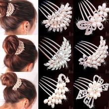 Hřebenová spona do vlasů s perlami