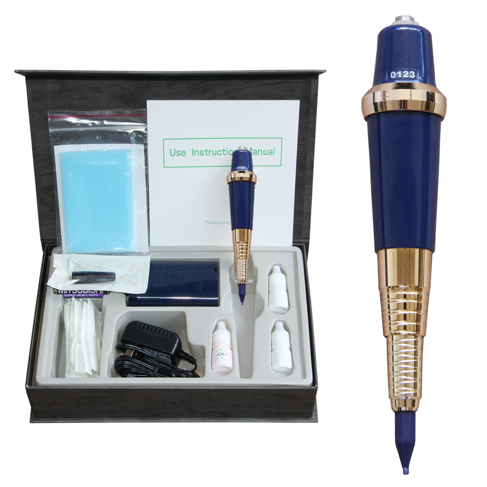 2017 Best selling Permanet Makeup 1Set Original Taiwan High Quality Eyebrow Eyeliner Lip Tattoo Machine For Free Shipping free shipping 3 pp eyeliner liquid empty pipe pointed thin liquid eyeliner colour makeup tools lfrosted purple
