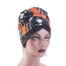 Touca de algodão hijab, gorro turbante para mulheres, acessórios de cabelo, gorro turbante extra longo