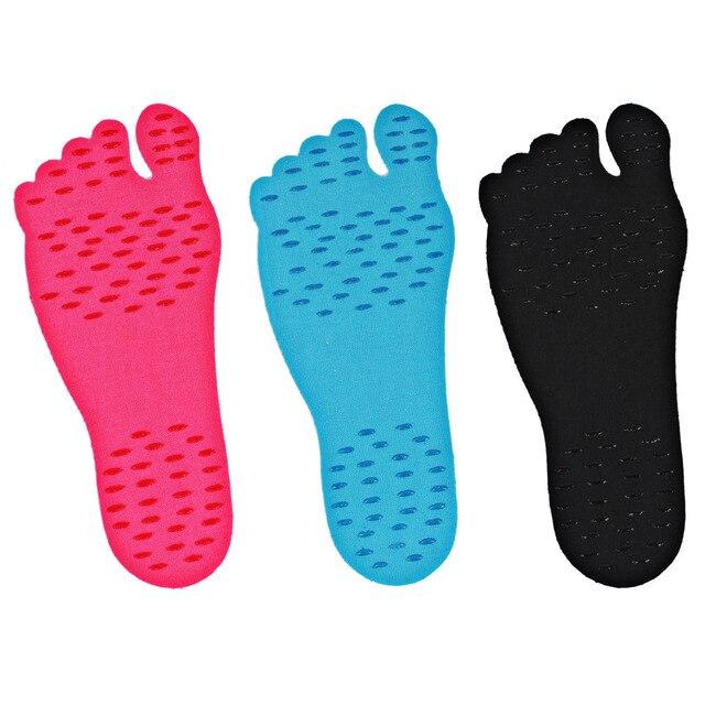 Mounchain Frauen Männer Adhesive Fuß Pads Füße Aufkleber Stick Auf Sohlen Flexible Füße Schutz Anti-skid Strand Stealth schuhe