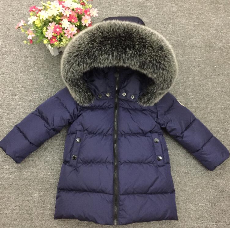 Winter in Russia girls boys warm down 90% duck clothing winter jacket for girl children and appropriate down jackets купить недорого в Москве