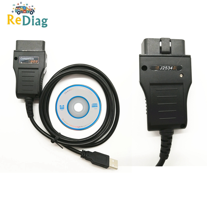 New HDS Cable For Honda Diagnostic Tool Update By CD Cable Auto OBD2 HDS Cable Free Shipping|Car Diagnostic Cables & Connectors| |  - title=