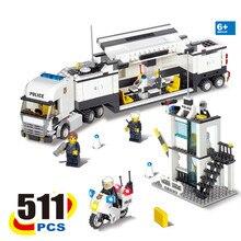 KAZI 2017 New 6727 Police Station Truck Building Blocks Sets Bricks Learning & Education Toys For Children brinquedos educativos