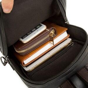 Image 5 - GUMST Leder Umhängetaschen für Männer Messenger Brust Tasche 2020 Neue Mode Lässig Tasche Wasserdicht PU Einzigen Schulter Taschen