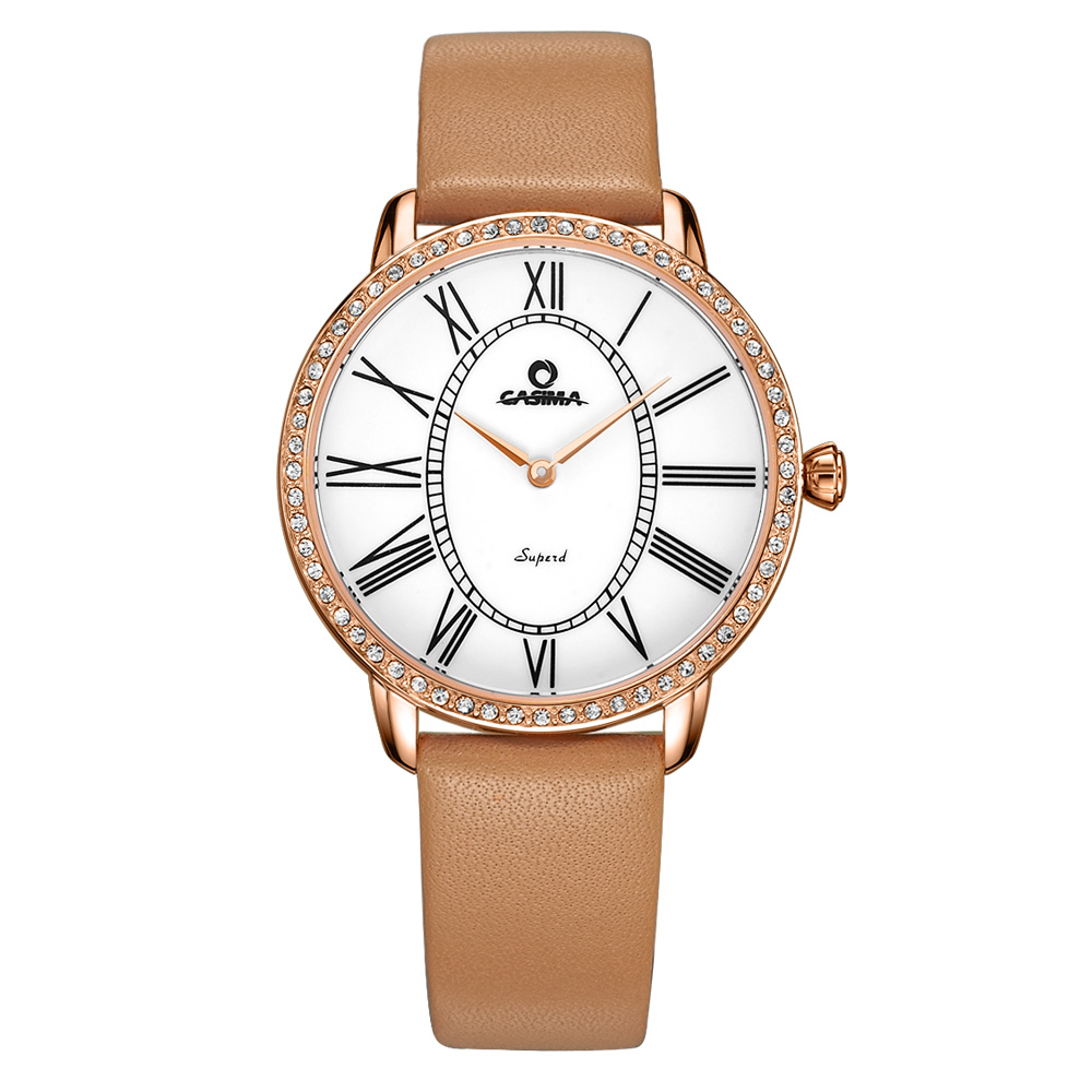 ФОТО Relogio feminino Luxury watches Women 2016 New Fashion Casual Dress Crystal quartz Wrist watch Leather waterproof  CASIMA#2615