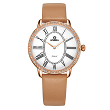 Relogio femininoLuxury watches Women  New Fashion Casual Dress Crystal quartz leather Wrist watch Leather waterproof  CASIMA2615