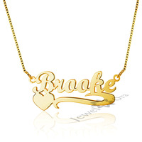 Best Friend Gift Personalized Custom Gold Color 925 Silver Russian Arabic Name Heart Necklace Birthday Unique Gifts For Women