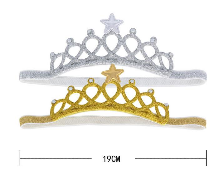new Glitter shiny party crown headband Tiaras baby girl crystal rhinstone star headwear kids toddler Children event festive gift