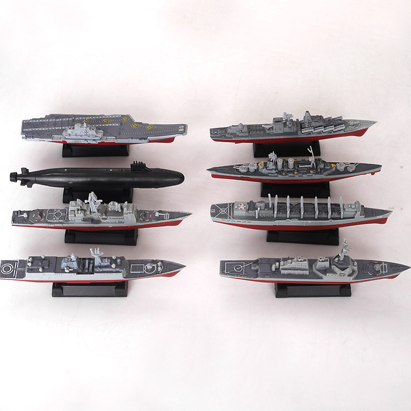 8pcs/set 3D Assembled Ship Model Moscow Missile Cruiser Kilo-class Submarine Battleships Modern Aircraft Military Warship Toy