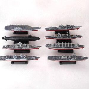 8pcs/set 3D Assembled Ship Model Moscow missile cruiser Kilo-class submarine Battleships Modern Aircraft Military Warship Toy