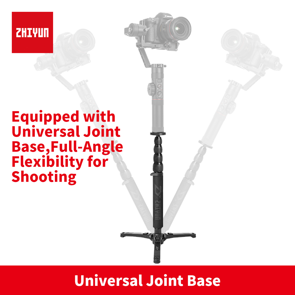 все цены на 2018 zhi yun Zhiyun Telescopic Monopod Table Tripod support for Zhiyun Crane 2 Zhiyun Handheld Gimbal with 1/4 Mounting Screw