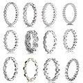 Colección de forma geométrica anillo 925 Anillos de anillos de plata anillos de plata esterlina para las mujeres Encanto de Época Memnon joyería fina conjunto