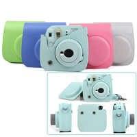 Funda de cámara de cuero PU de calidad para Fujifilm Instax Mini 9 Mini 8 cámara de película instantánea, bolsa protectora de 5 colores con correa de hombro