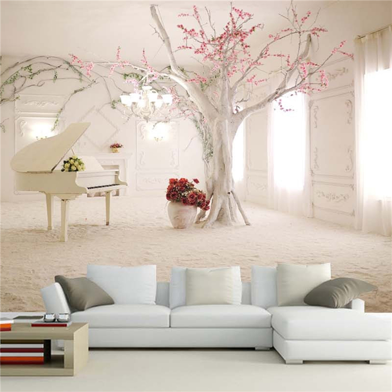 Customize Size Mural Wallpaper Background Piano Window Extension Space Restaurant Home Decor Wall Covering Living Room Painting