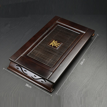 High-grade Tea Tray 68cm*38cm*7cm solid wooden tray chinese kungfu tea tools saucer drawer type water tea board large tea table