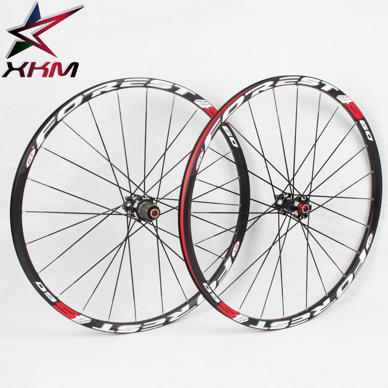 Bicycle Wheel 26/27.5er MTB 24Holes 7075 alloy CNC Disc brake wheels 5 bearing wheels 8/9/10/11 Speeds Bicycle Parts aluminum alloy disc brake 8 9 10 68mm 26 17 42 52mm headset bicycle frame