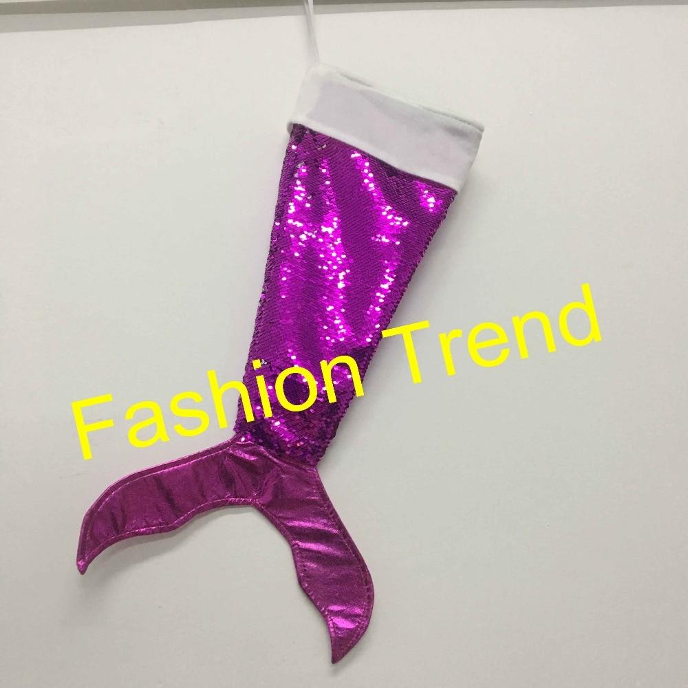60pcs/lot best quality 5 colors Christmas mermaid stockings sequins ...