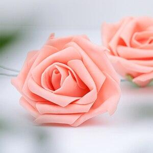 Image 2 - Rose Rose artificielle mousse fleur ins photographie accessoires Photos Studio accessoires pour bagues bijoux cosmétique photographie toile de fond