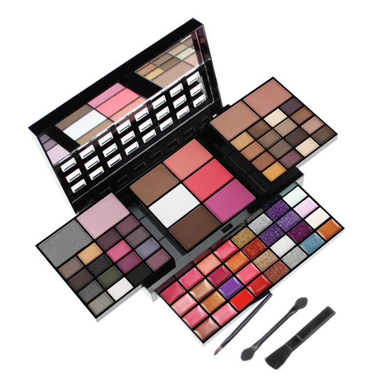 Conjuntos de maquiagem 74 Cores Kits de Maquiagem Para As Mulheres Caixa de Cosméticos Compo o Jogo Maquiagem Profissional Completa Paleta de Brilho Sombra
