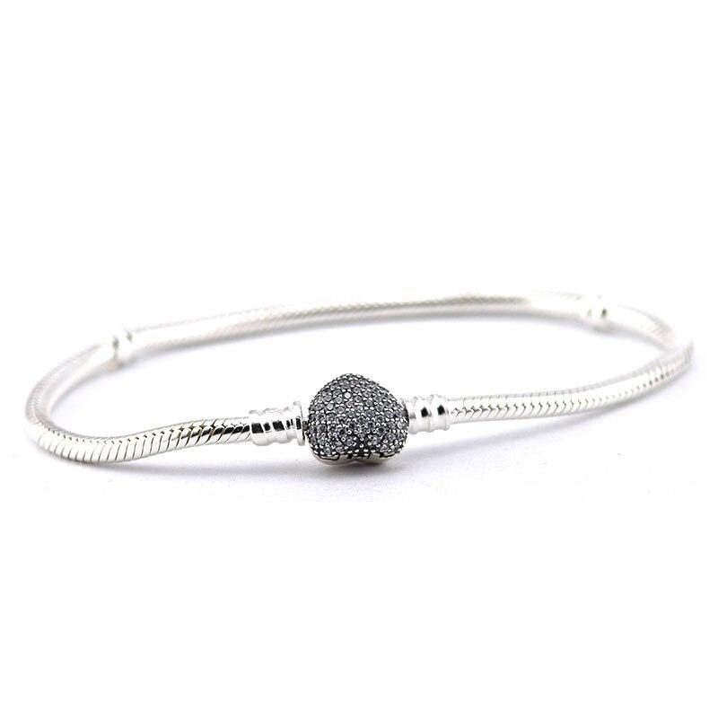 Pave Heart Náramky 100% 925 Sterling Silver šperky Doprava zdarma