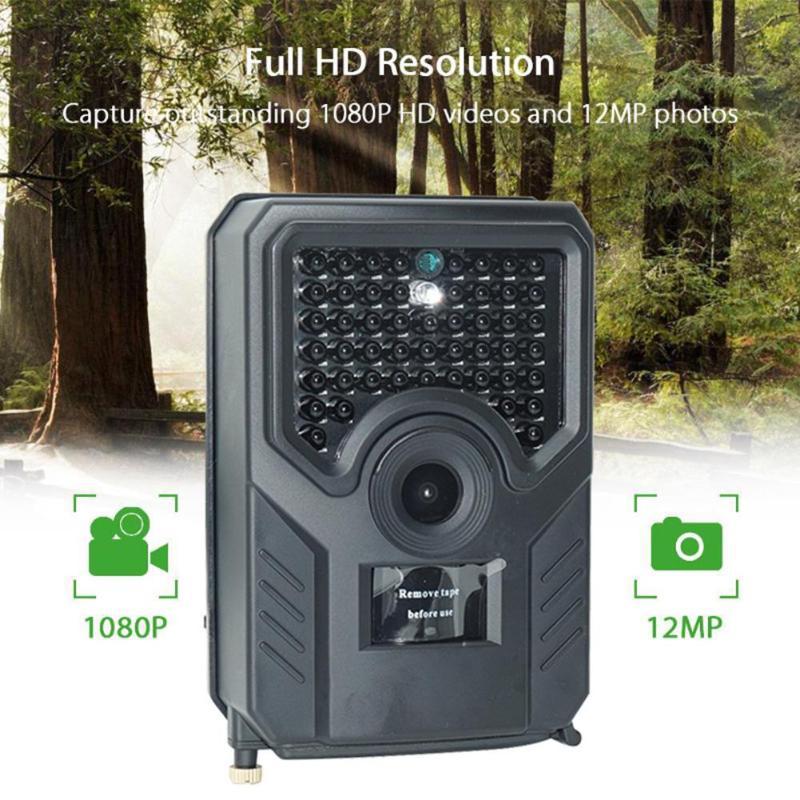 Caméra de piste de chasse en plein air de PR-200 Full HD 12MP 1080 P vidéo piège de caméra sauvage Scouting infrarouge IR Trail IP54 caméra étanche