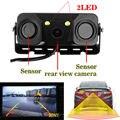 3 in1 Парковочная Камера Датчика Черный Датчики Реверсивный Радар Заднего Вида Автомобиля SONY CCD Камера Заднего Вида Водонепроницаемый