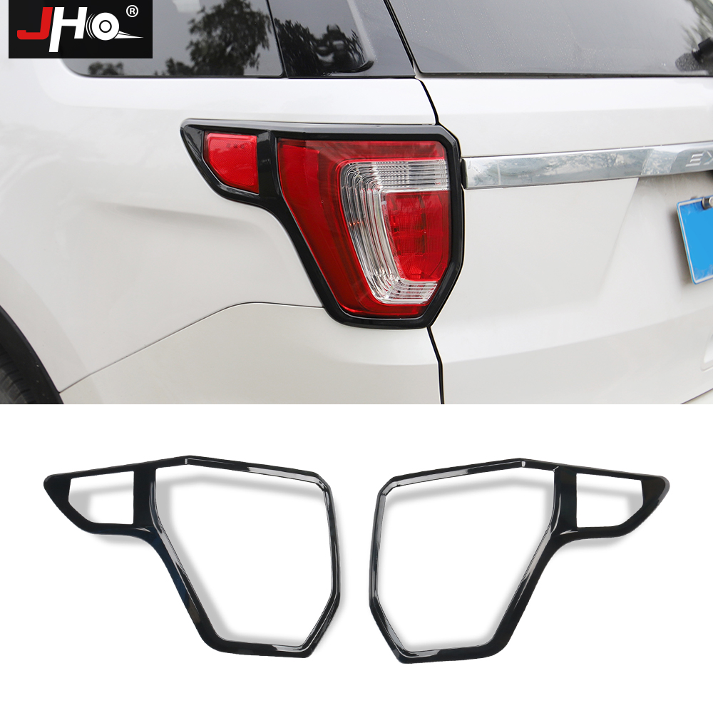 JHO ABS Rear Tail Lamp Garnish  Cover Trim For Ford Explorer 2016-2018 2017 Car Exterior Styling Accessories Decoration Black