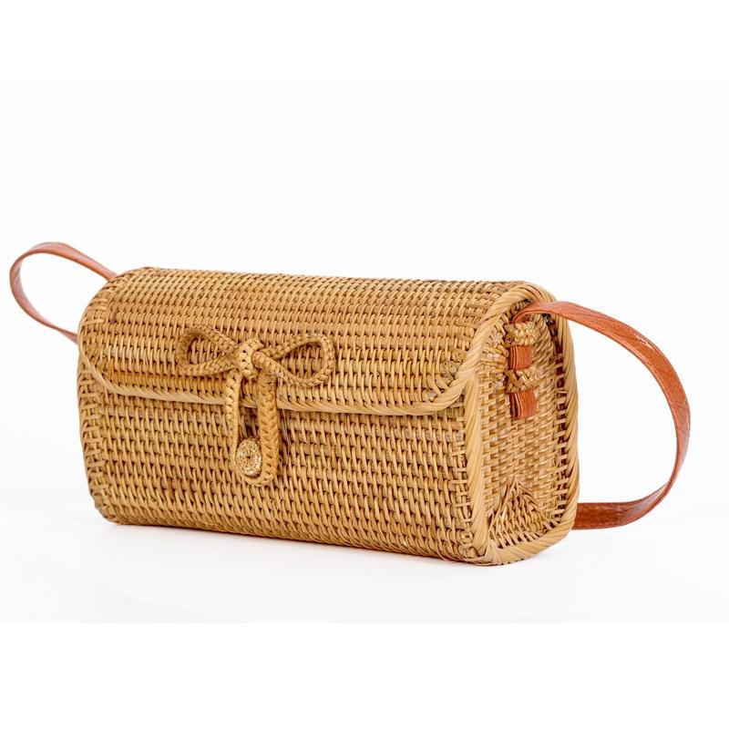 2018 Summer Women Bali Bohemia Beach Circle Bag Island Hand Woven Bag Square buckle Rattan Straw Bags Satchel Wind bag все цены