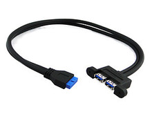 CYDZ 2PORT USB 3.0 Panel Type Motherboard 20P Cable 50cm